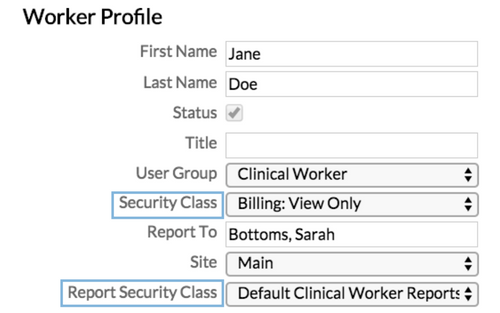 security role settings in Penelope
